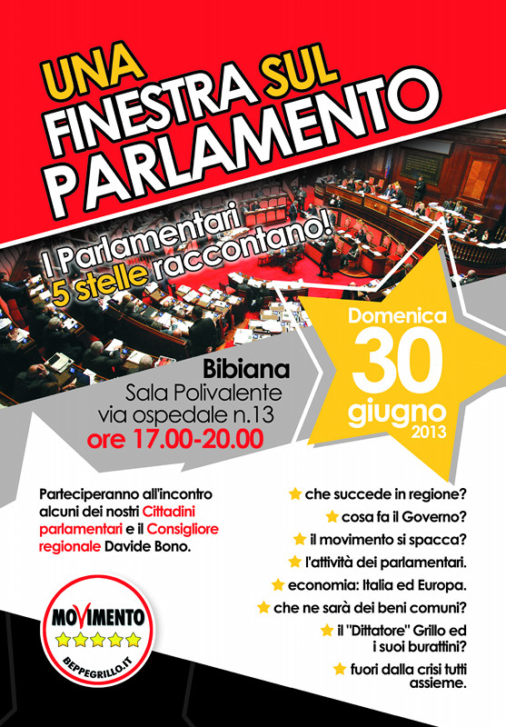 Parlamento movimento 5 stelle pinerolo to for Parlamento movimento 5 stelle